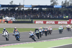 Aron Canet, Estrella Galicia 0,0; John McPhee, British Talent Team; Jorge Martin, Del Conca Gresini Racing Moto3
