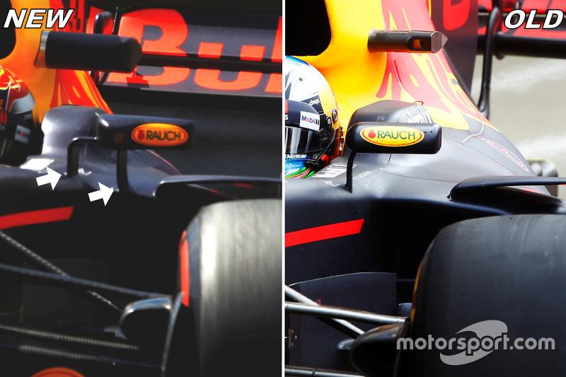Red Bull Racing RB 13, espejos