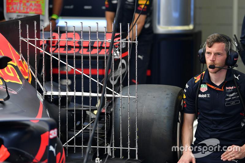 El Red Bull Racing RB13 con sensores aerodinámicos