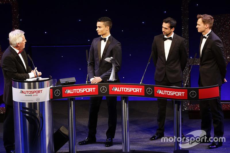 Pascal Wehrlein acepta el premio a Novato del Año