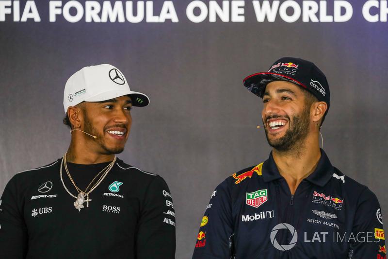Льюіс Хемілтон, Mercedes AMG F1, Даніель Ріккардо, Red Bull Racing