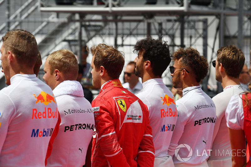 Resultado de imagen de pilotos f1 2018