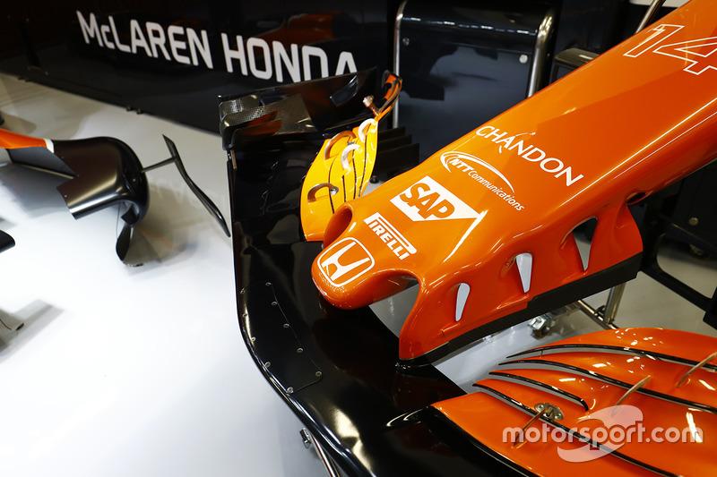 Le nez de la McLaren MCL32 Honda