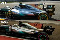 Comparación de Mercedes AMG F1 W08