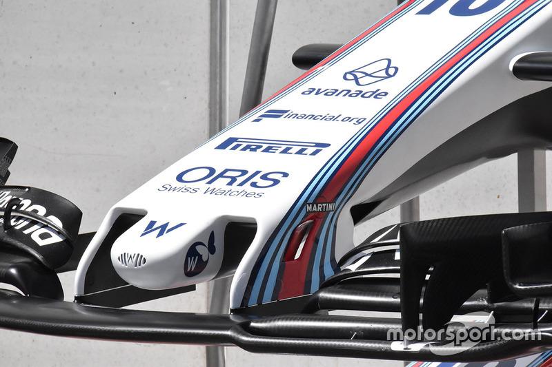 Detail hidung Williams FW40