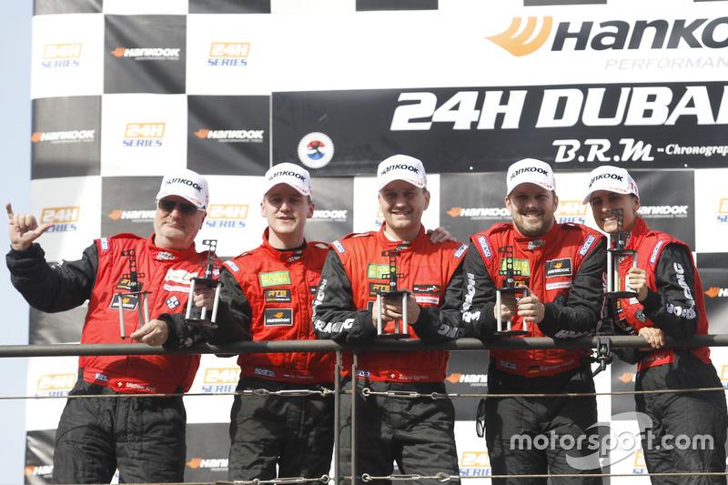Podyum: 1. AM #1 Hofor-Racing Mercedes AMG GT3: Michael Kroll, Chantal Kroll, Roland Eggimann, Kenneth Heyer, Christiaan Frankenhout