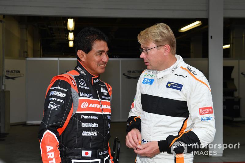 Aguri Suzuki et Mika Häkkinen