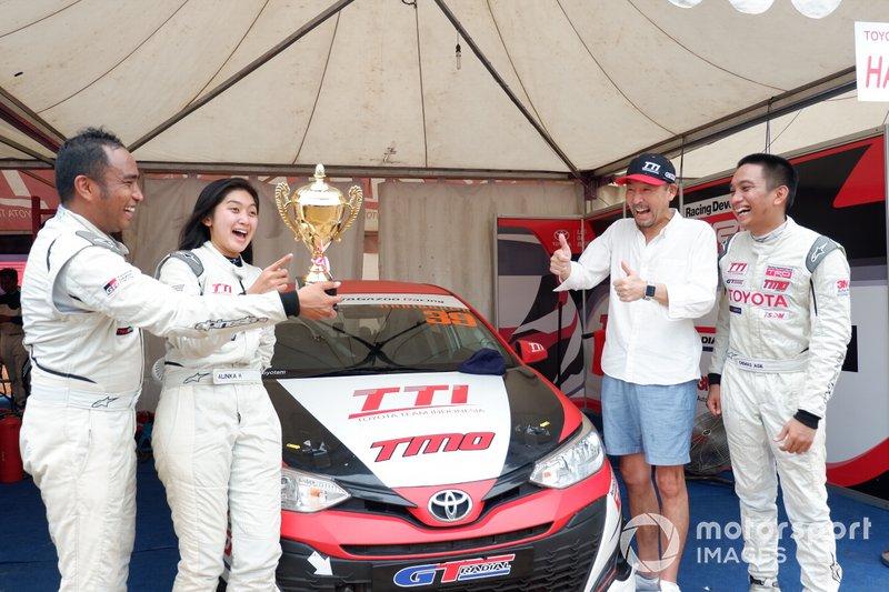 Haridarma Manoppo, Alinka Hardianti dan Demas Agil, Toyota Team Indonesia