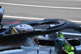 Mercedes-AMG F1 W09, dettaglio dell'Halo