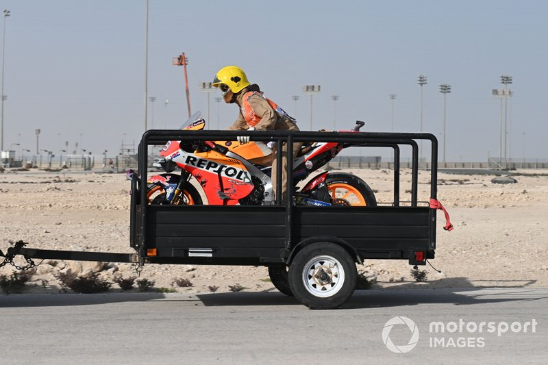 La moto chocada de Jorge Lorenzo, Repsol Honda Team