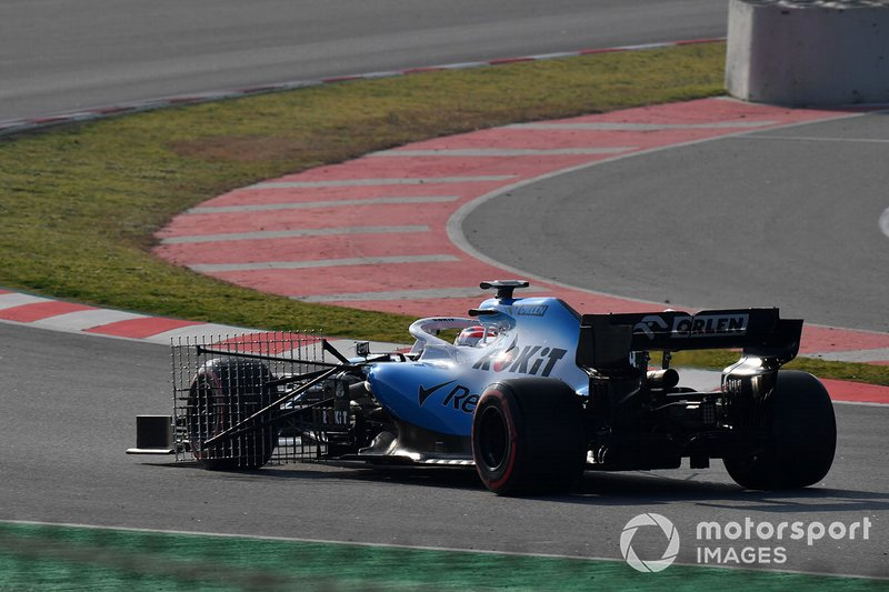 Robert Kubica, Williams FW42 with aero sensors