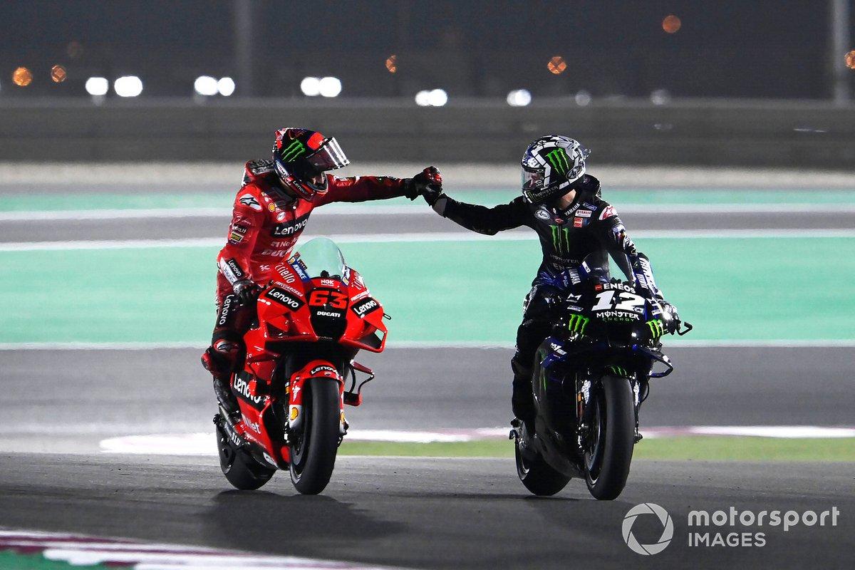 Francesco Bagnaia, Ducati Team, Maverick Vinales, Yamaha Factory Racing
