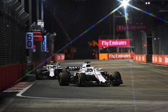 Lance Stroll, Williams FW41 and Sergey Sirotkin, Williams FW41