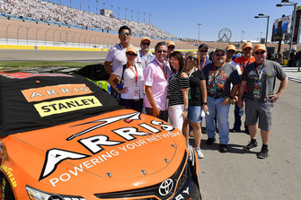 Daniel Suarez, Joe Gibbs Racing, Toyota Camry ARRIS, meet & greet