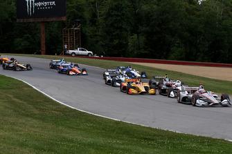 Will Power, Team Penske Chevrolet, Josef Newgarden, Team Penske Chevrolet, Ryan Hunter-Reay, Andretti Autosport Honda