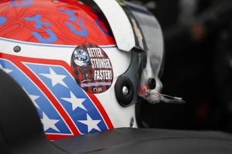 Charlie Kimball, Carlin Chevrolet, et un sticker pour Robert Wickens sur son casque