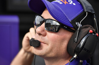 Denny Hamlin, Joe Gibbs Racing, Toyota Camry FedEx Office crew chief Mike Wheeler