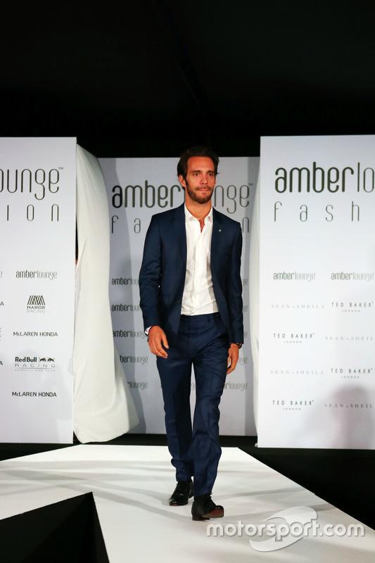 Jean-Eric Vergne, Ferrari Test and Development Driver at the Amber Lounge Fashion Show.