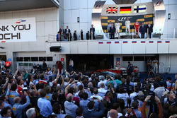 Podium: winnaar Nico Rosberg, Mercedes AMG F1 Team,tweede Lewis Hamilton, Mercedes AMG F1 Team, derd