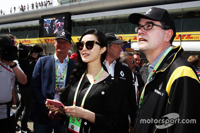 Fan Bingbing, Actress, Renault Sport F1 Team guest on the grid