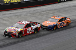 Kyle Busch, Joe Gibbs Racing, Toyota Camry Skittles and Joey Logano, Team Penske, Ford Fusion Autotrader