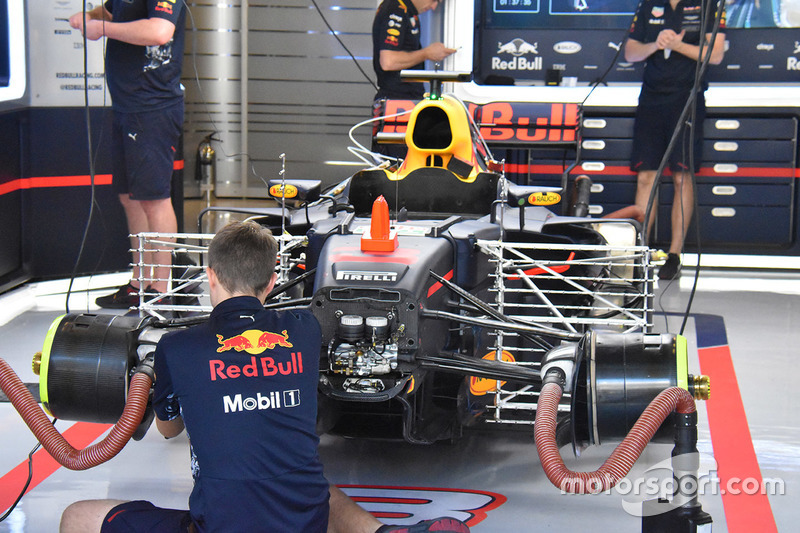 La voiture de Daniel Ricciardo, Red Bull Racing RB13