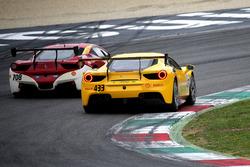 #433 Ferrari North America Ferrari 488: Michael Fassbender, #708 Ferrari of Denver Ferrari 458: John Boyd