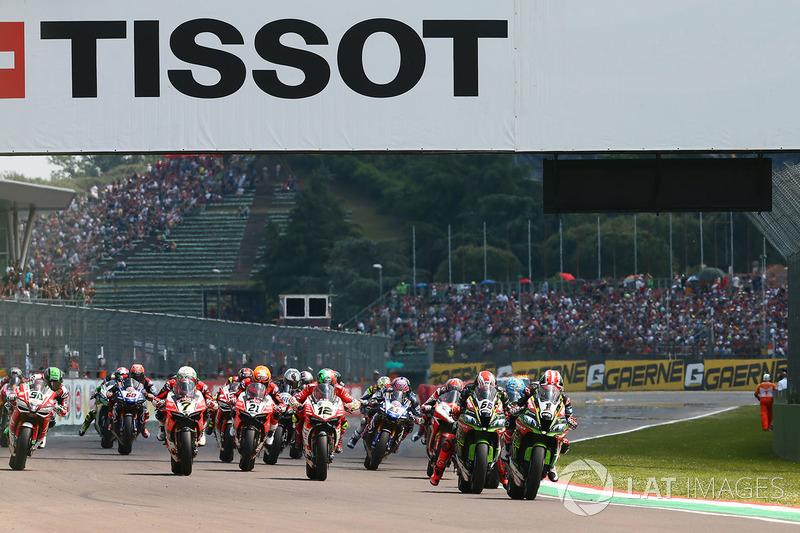 Jonathan Rea, Kawasaki Racing, Tom Sykes, Kawasaki Racing, al comando alla partenza