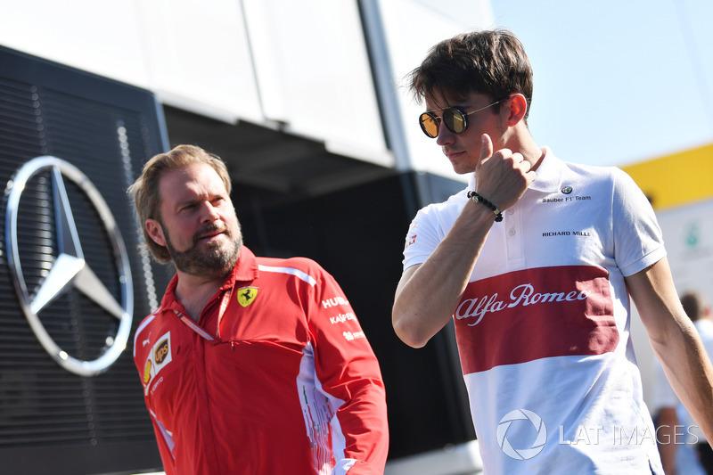 Gino Rosato, Ferrari e Charles Leclerc, Sauber
