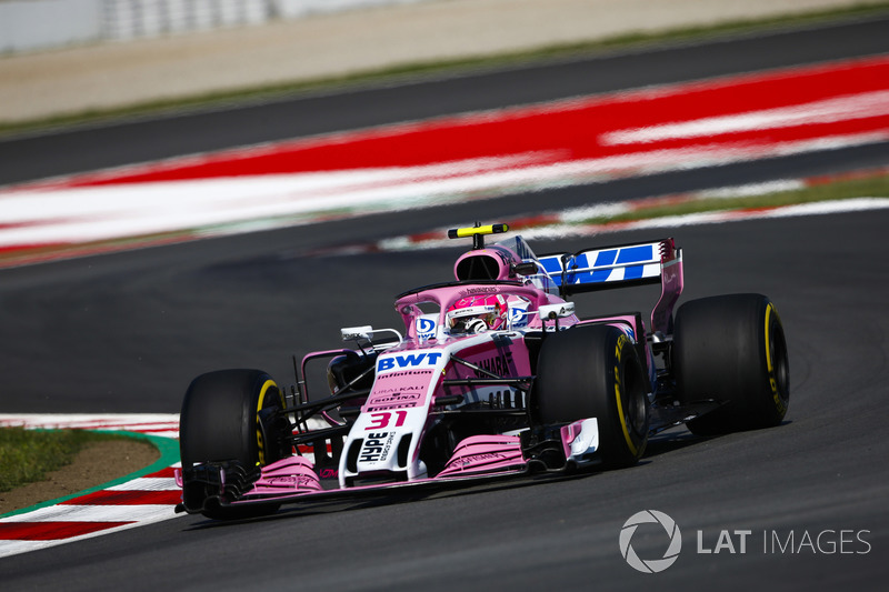 13: Esteban Ocon, Force India VJM11, 1'18.696