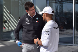 Lewis Hamilton, Mercedes-AMG F1, Toto Wolff, Mercedes AMG F1 Director of Motorsport