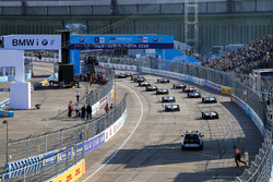 The Grid lines up for the start of the Berlin ePrix