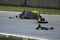 Martin Donnelly, Team Lotus, nach Unfall