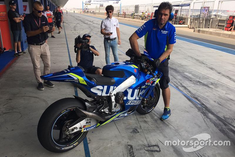 La moto del Team Suzuki MotoGP