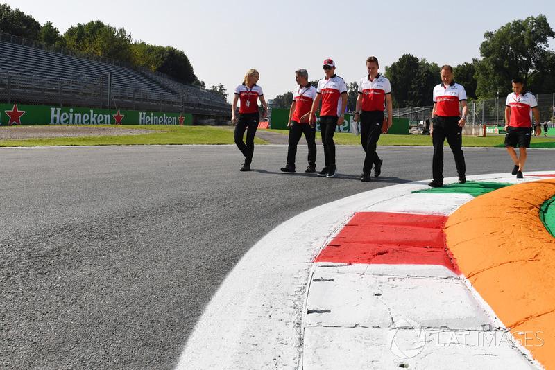 Charles Leclerc, Alfa Romeo Sauber F1 Team, recorre la pista