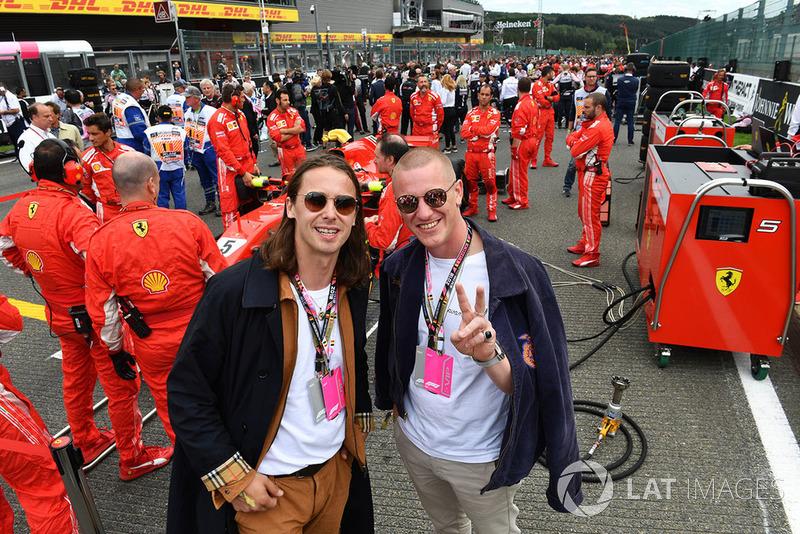 Гран При Бельгии: музыканты Jungle Джош Ллойд-Уотсон и Том Макфарланд
