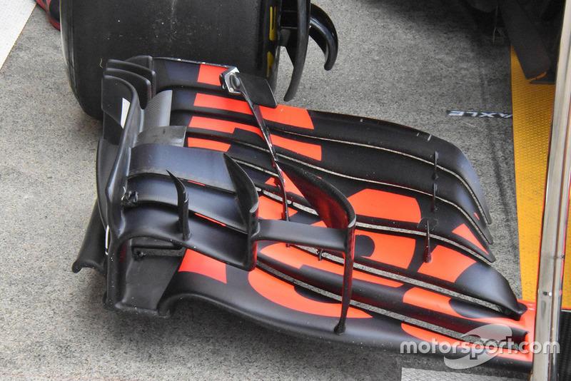 Detalle del alerón delantero Red Bull Racing RB14