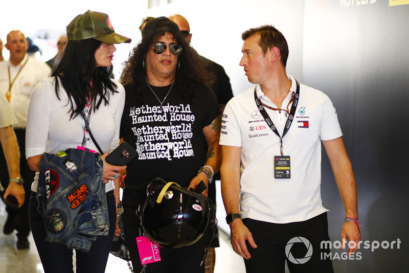 Guns and Roses guitarist, Slash heads out for a Hot Lap