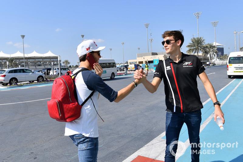 Pierre Gasly, Scuderia Toro Rosso e George Russell, Williams Racing