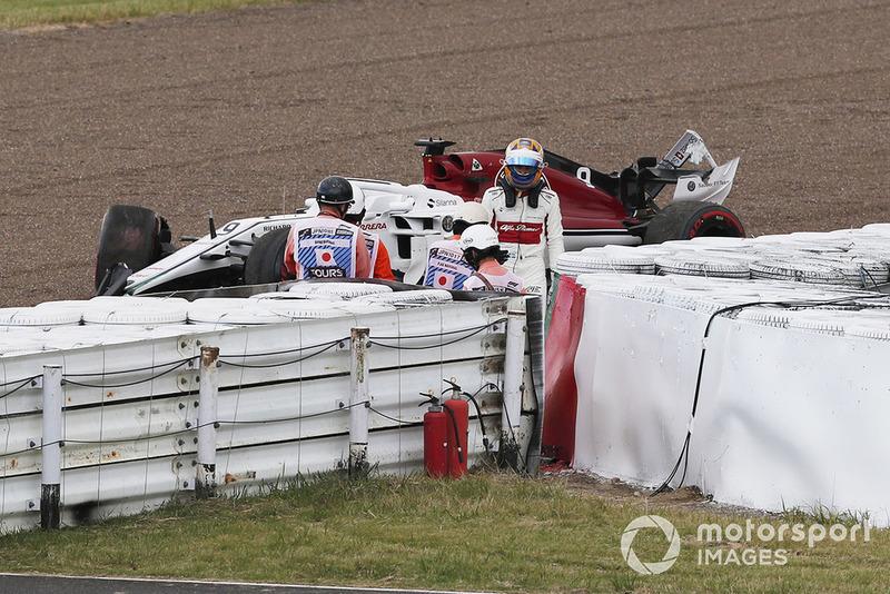 Marcus Ericsson, Sauber C37, après son accident