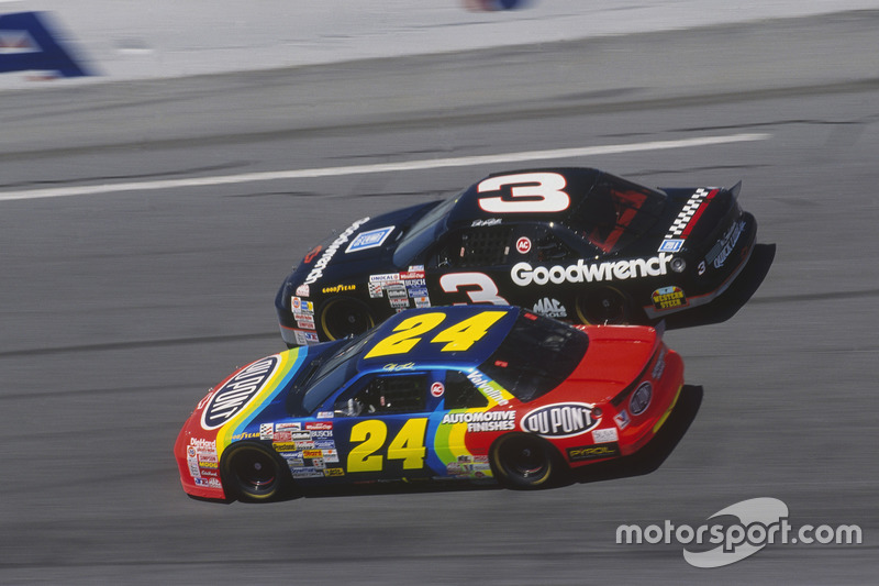 Jeff Gordon et Dale Earnhardt