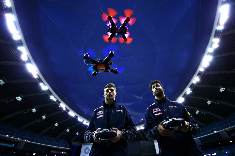 Daniel Ricciardo, Red Bull Racing and Max Verstappen, Red Bull Racing race drones
