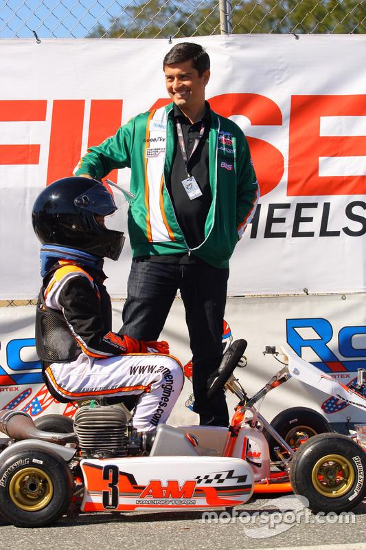 INDY Lights Takım Sahibi Ricardo Juncos ve oğlu Levero Juncos