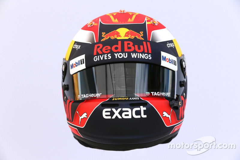 Le casque de Max Verstappen, Red Bull Racing RB13