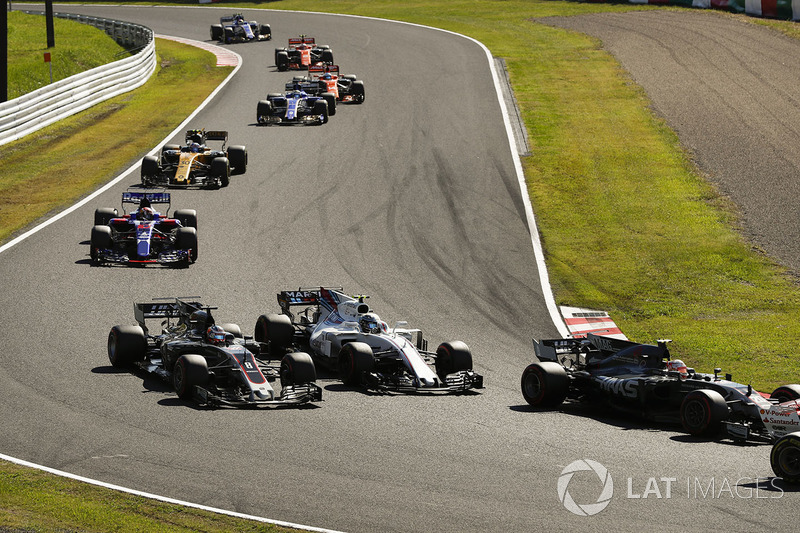Кевін Магнуссен, Ромен Грожан, Haas F1 Team VF-17, Ленс Стролл, Williams FW40, П'єр Гаслі, Scuderia Toro Rosso STR12