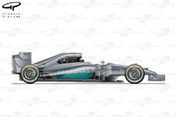 Mercedes W05 side view