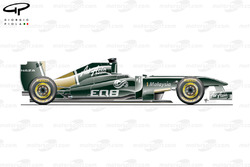 Lotus T128 side view