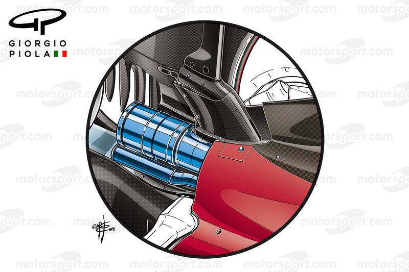 Ferrari SF15-T exhausts