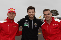 Alex Premat, Trent Cotchin and Scott McLaughlin, DJR Team Penske