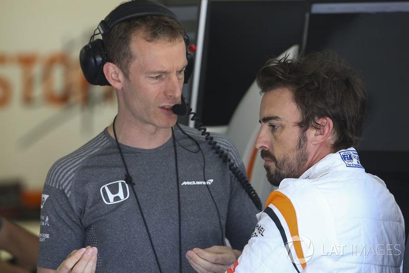 Mark Temple ingeniero de carrera, McLaren, Fernando Alonso, McLaren